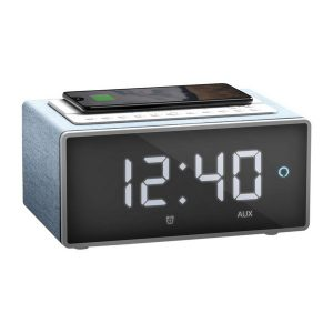 Clock Radio with Wireless Charger