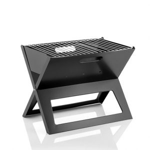 Folding Portable Barbecue For Use With Charcoal